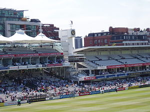 The stands towards the southern end of Lord's ...